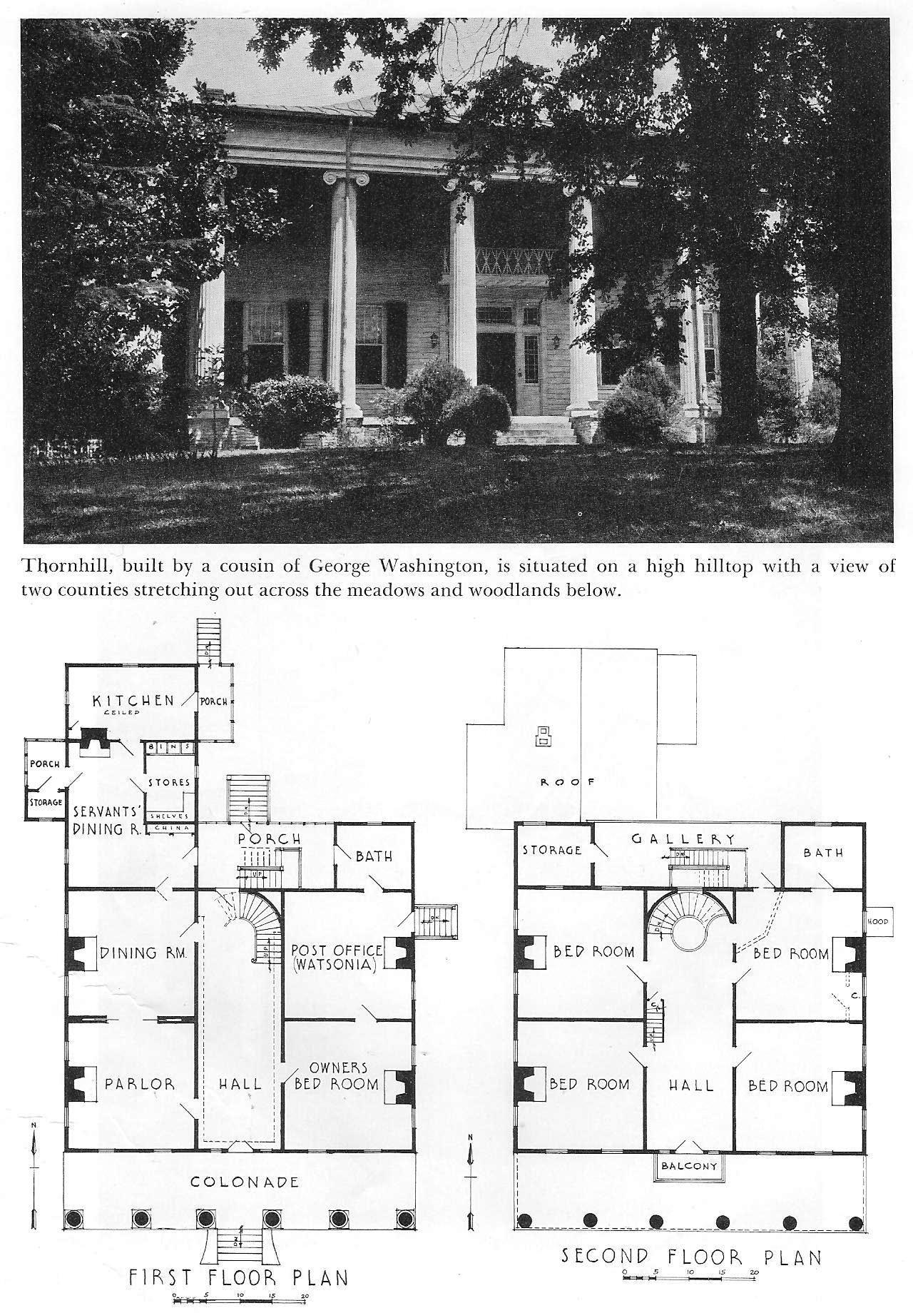 Thornhill plantation 1833 near forkland alabama for Plantation floor plans