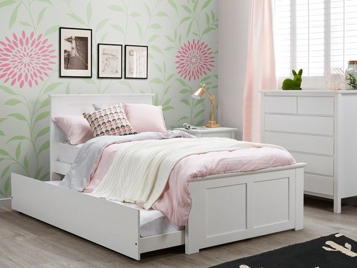 white king single trundle bedroom suites 4pce – hardwood frames