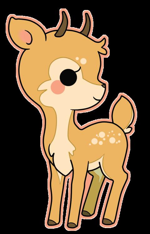 kawaii deer Google Search Kawaii animals, Cute little