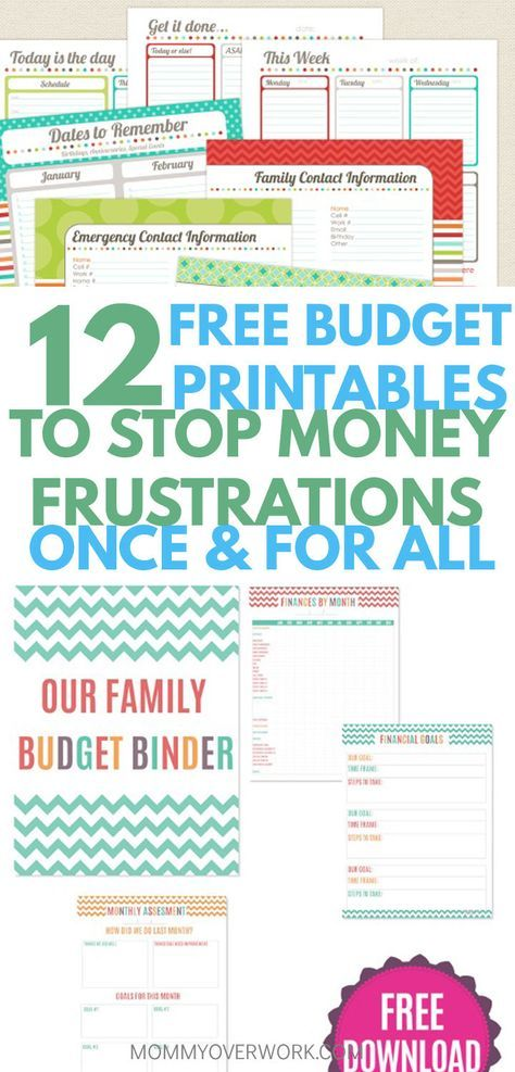 12 Free Printable Budget Worksheets to GET CONTROL OF YOUR MONEY ...