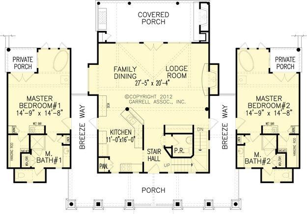 House Plan 699 00042 Mountain Plan 1 873 Square Feet 2 Bedrooms 2 5 Bathrooms In 2021 Master Suite Floor Plan Single Level House Plans Bedroom Floor Plans