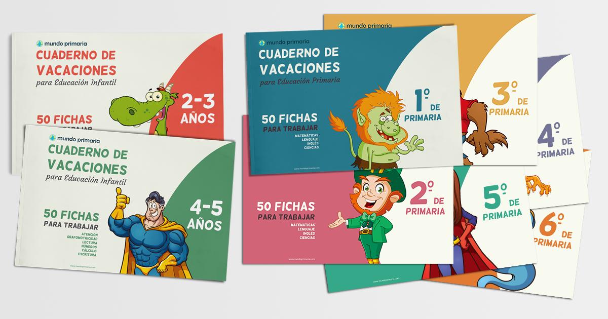 Caratulas Color Cuadernos Escolares Infantiles Dibujos Para 2: Descarga Estos Cuadernos De Vacaciones Para Imprimir Tanto