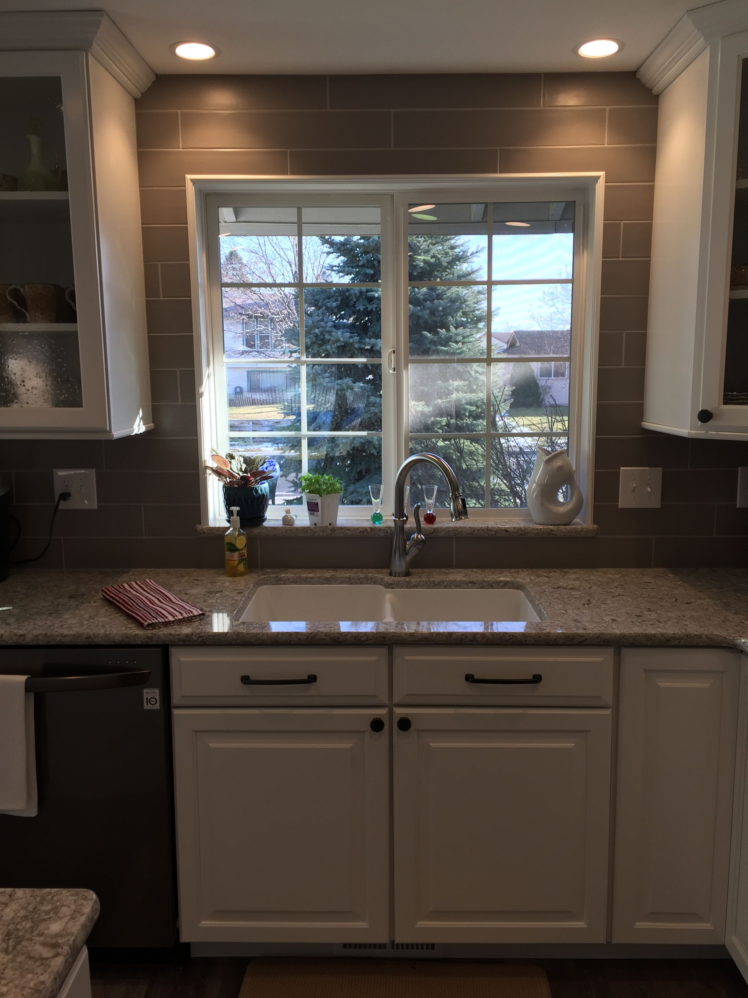 Full Height Backsplash 4 X 12 Subway Tile Cambria Quartz Countertops Kitchen Peninsula Cambria Quartz Countertops Kitchen Renovation