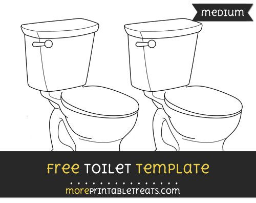 free toilet template medium shapes and templates printables