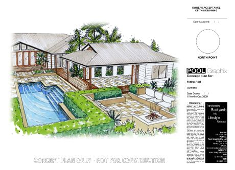 Designed by neville cox pool graphix sample plans for Cox plans