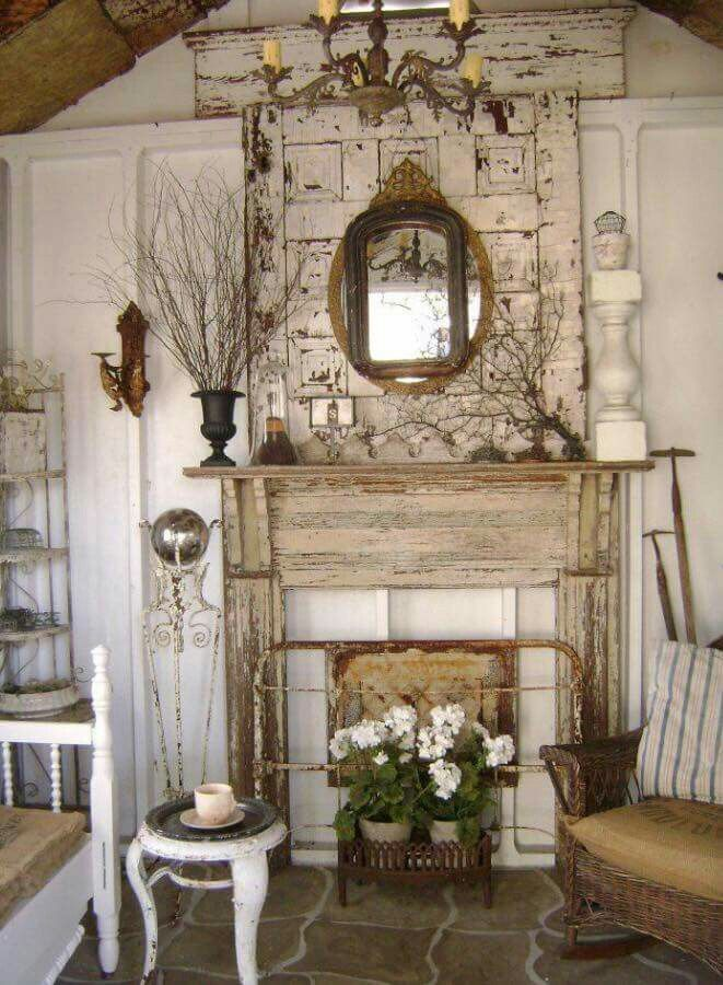Pin By Mia Bingenheimer On My Spa Home Shabby Chic Homes Faux Fireplace
