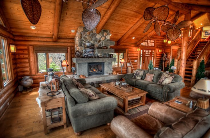 37 rustic living room ideas living room ideas rustic for Log living room