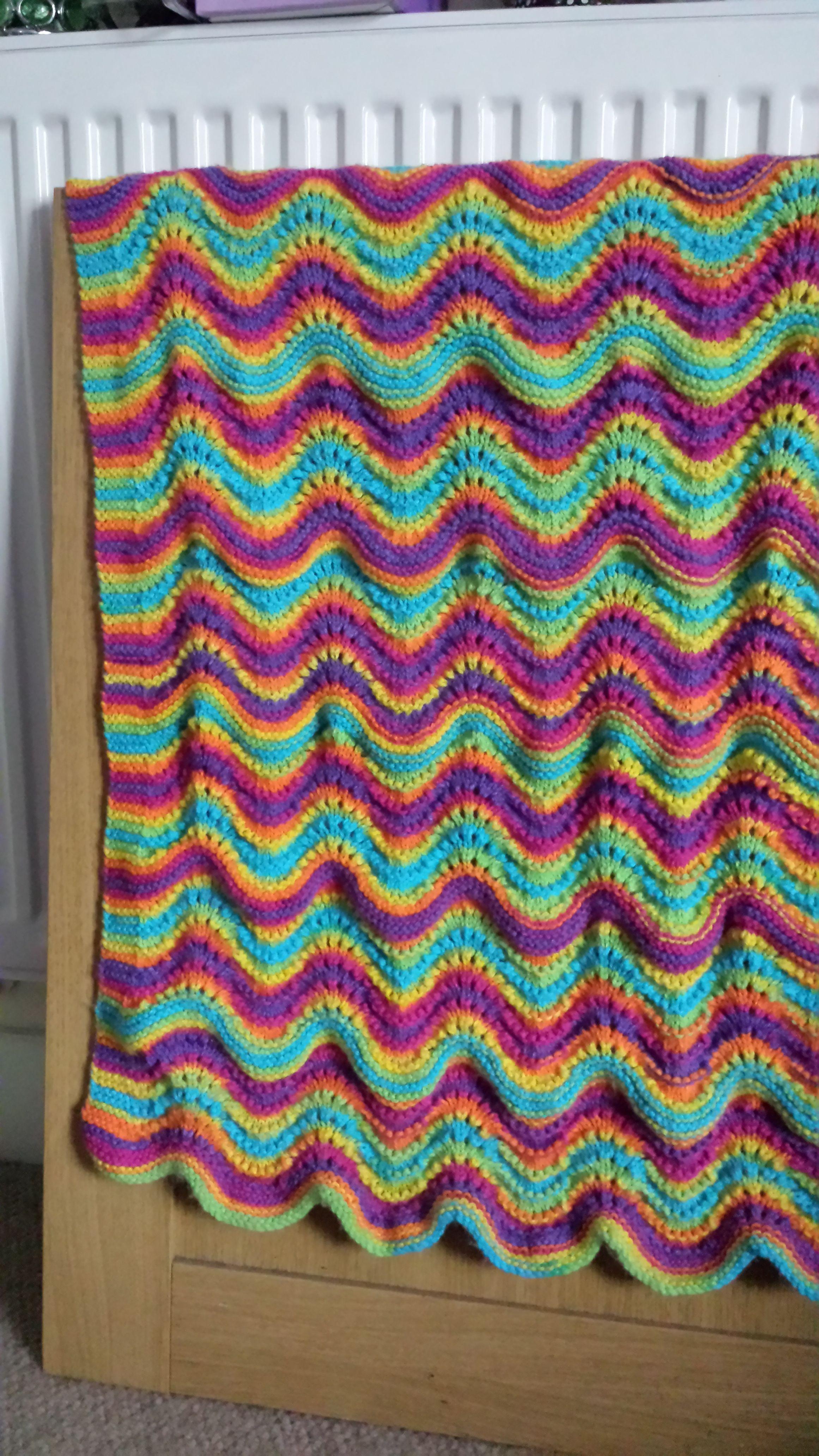 Feather Fan Baby Blanket Pattern From Ravelry Crochetknitting