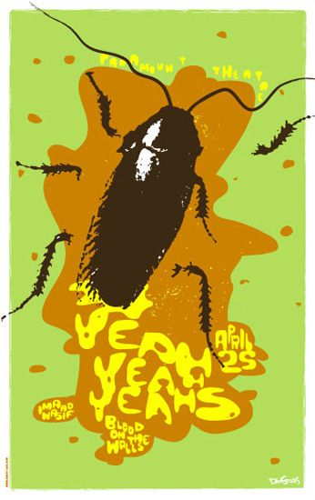GigPosters.com - Yeah Yeah Yeahs - Blood On The Walls - Imaad Wasif