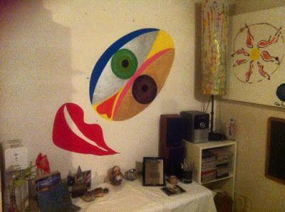 """I quadri di Paola Brunetti su vetro e tela: Murales """"Sogno irrealizzabile"""""""