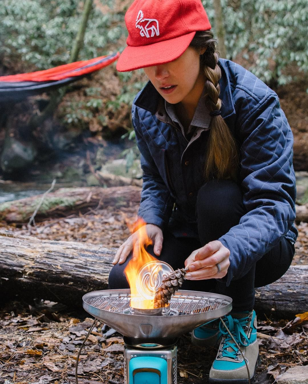 Good food and good company. There's not much better than disconnecting and setting up camp for the weekend.  What's your go-to camp meal? @kellywatters1 in the Silverton Wool Hat and Caribou Quilted Shirt #LivetheMountainLife   #TrustTheWild by western_rise