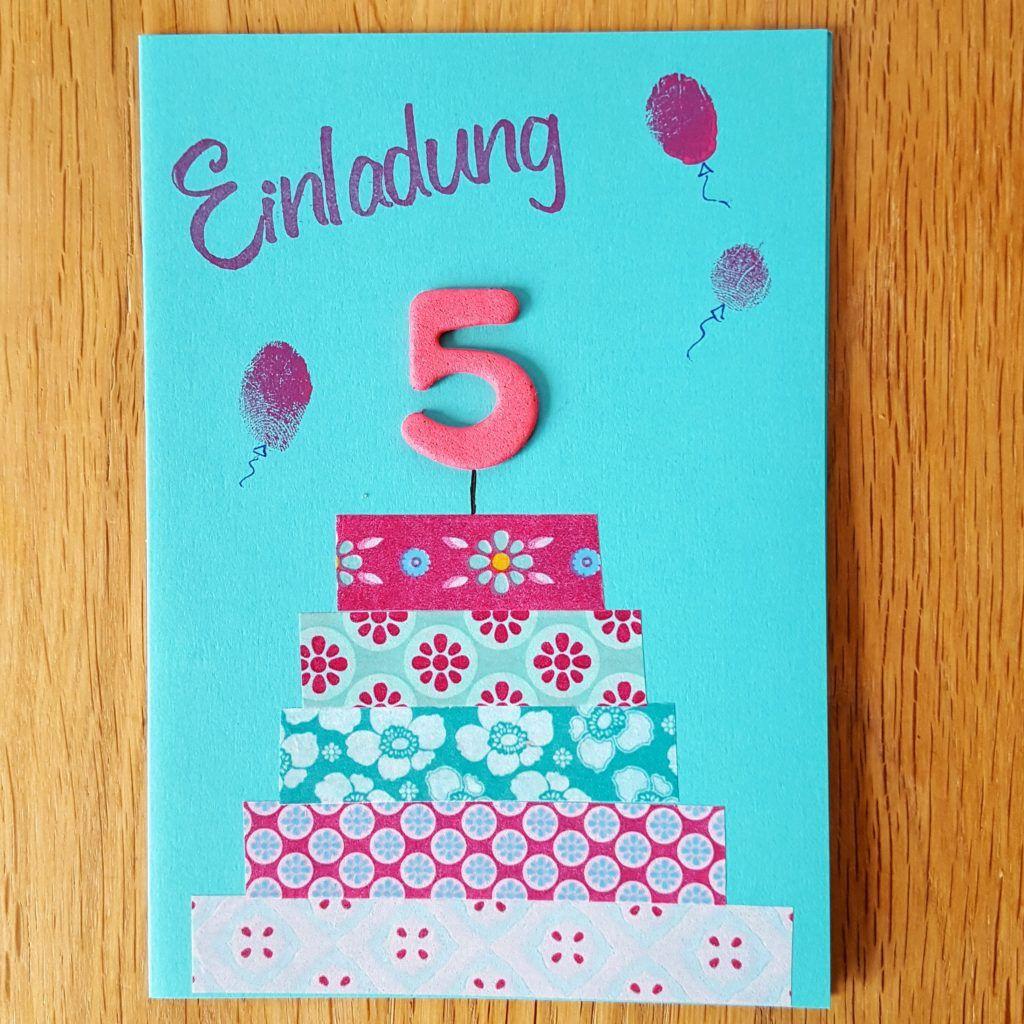 DIY Einladung zum 5. Geburtstag | frau-piefke-schreibt.de