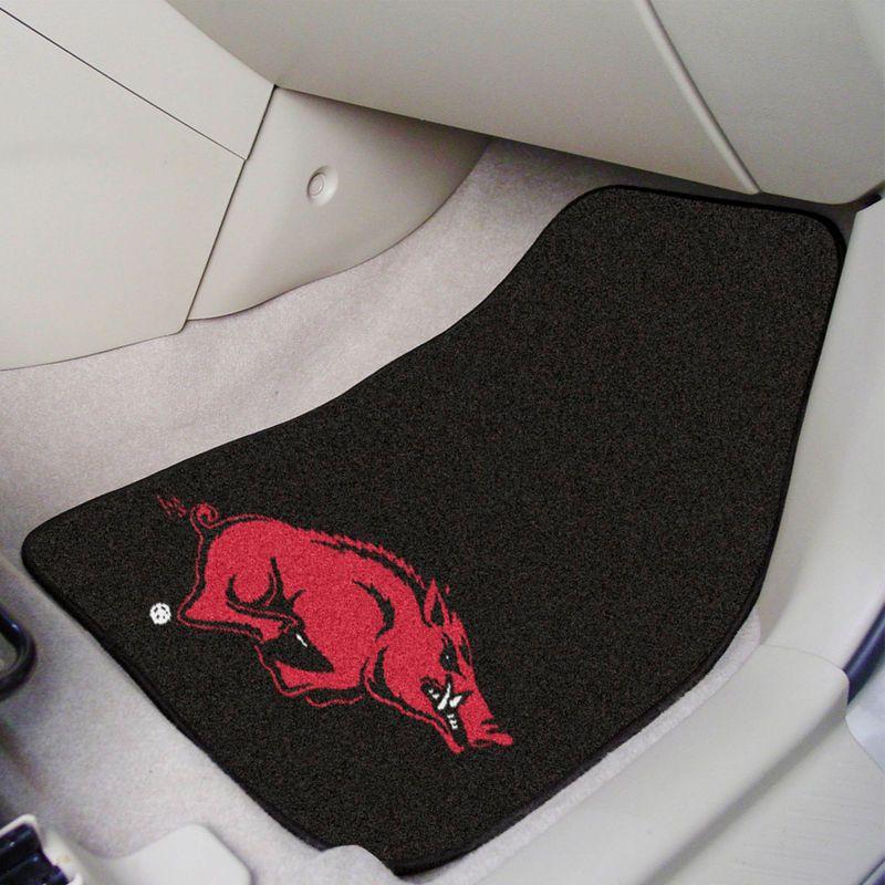 Arkansas Razorbacks 2 Piece Carpet Car Mat Set Car Mats