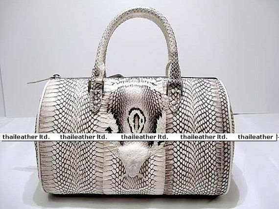 ca4be32c71c Snake Skin Handbag. Genuine King Cobra Snake Skin. Natural Color ...