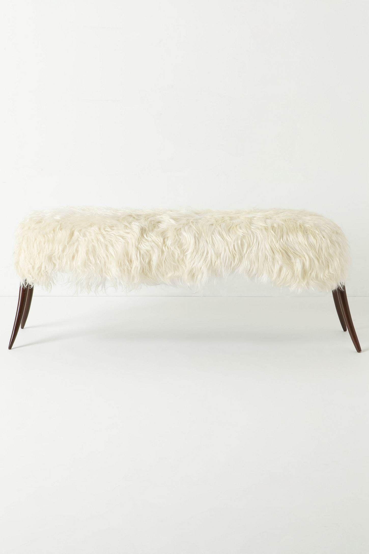 Peau De Mouton Grise Ikea recouvrir un banc avec les peaux de moutons ikea   idées