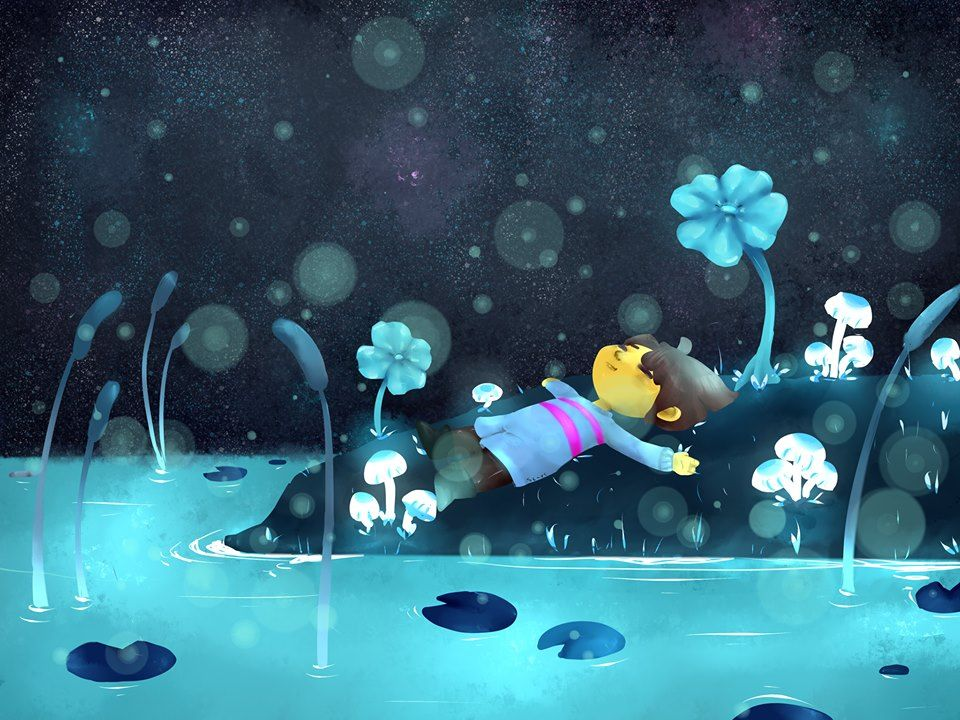 undertale frisk in waterfall - photo #9
