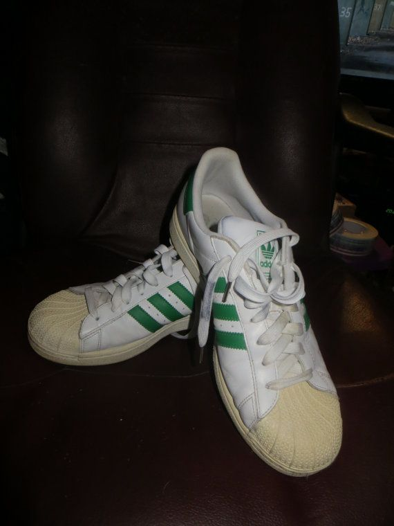 save off 97da5 6e667 retro ADIDAS Originals white green stripes by ...