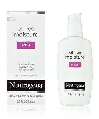 Best Moisturizer Neutrogena Oil Free Moisture Spf 35 Perfect For Oily Skin Oil Free Facial Moisturizer Moisturizer For Oily Skin Sunscreen Moisturizer
