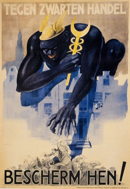 "Dutch poster 1944: ""Protect them against the black market!"""