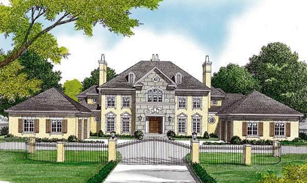 European Style House Plan 85652 With 5 Bed 6 Bath 4 Car Garage Luxury House Plans European House European House Plans