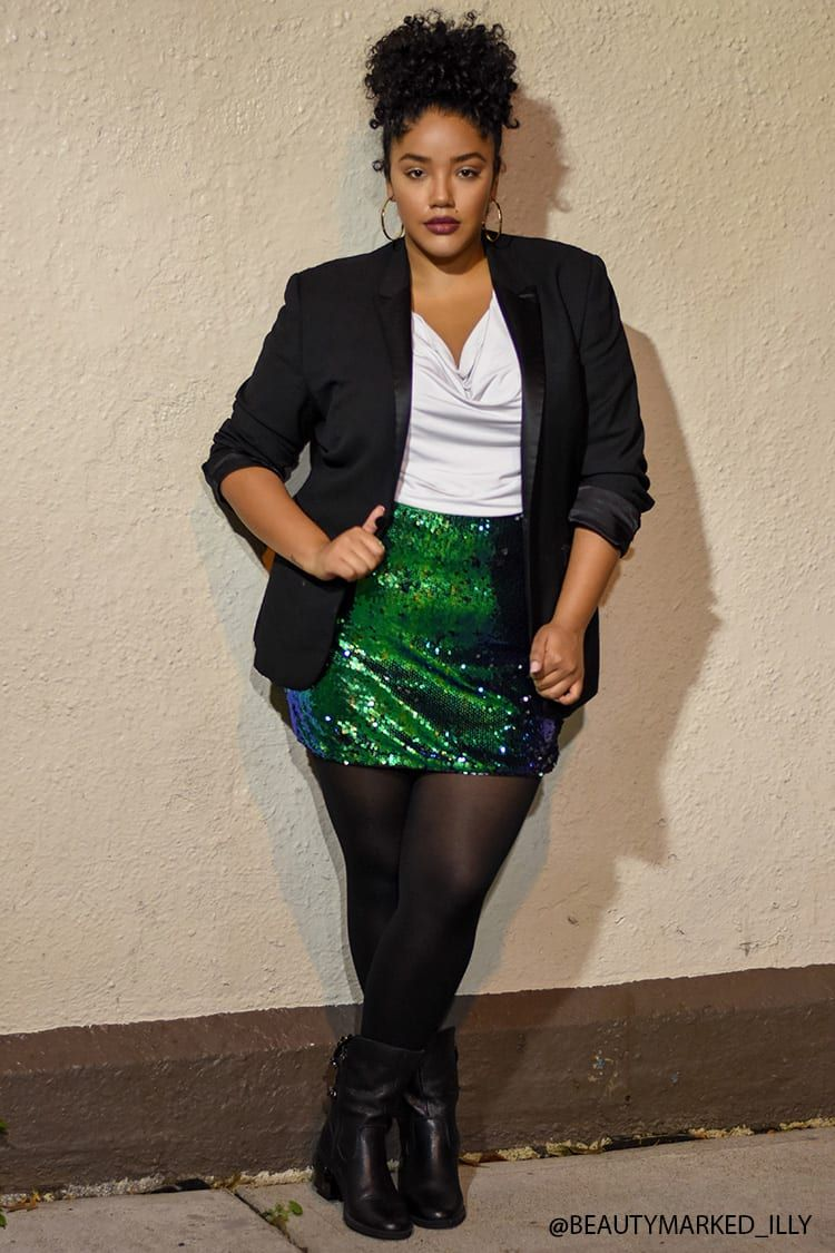 c302323651cf Product Name:Plus Size Iridescent Sequin Mini Skirt,  Category:CLEARANCE_ZERO, Price:22.9