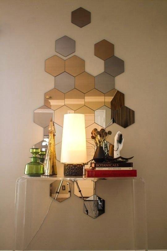 Hexagon Wall Mirrors Hexagon Mirror Tiles Newest Hexagon Mirror ...