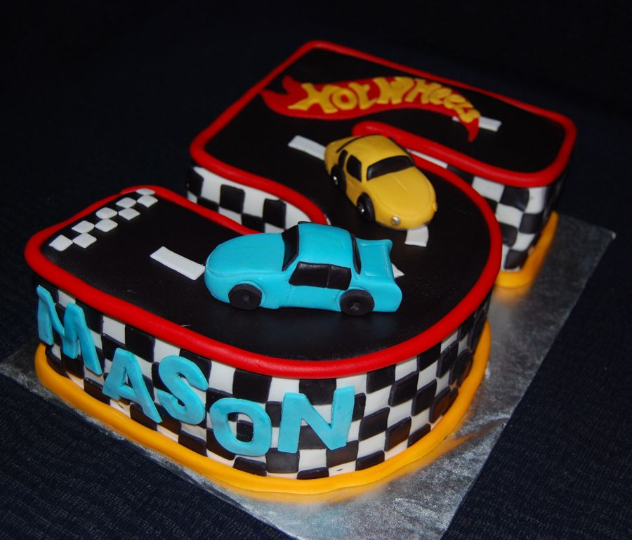 Astounding Hot Wheels Cake And Cupcakes Hot Wheels Cake Hot Wheels Funny Birthday Cards Online Alyptdamsfinfo