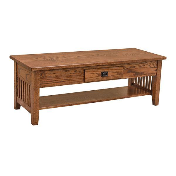 Amish Prairie Lift Top Table Oak Coffee Table Craftsman Coffee