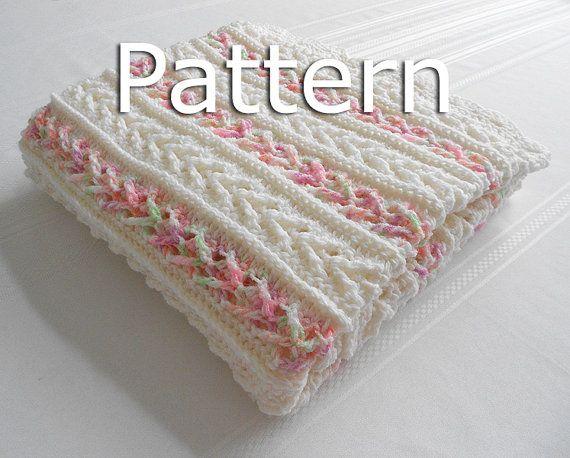 Crochet Pattern - Avalon Baby Blanket - Baby Afghan Babyghan - Throw ...