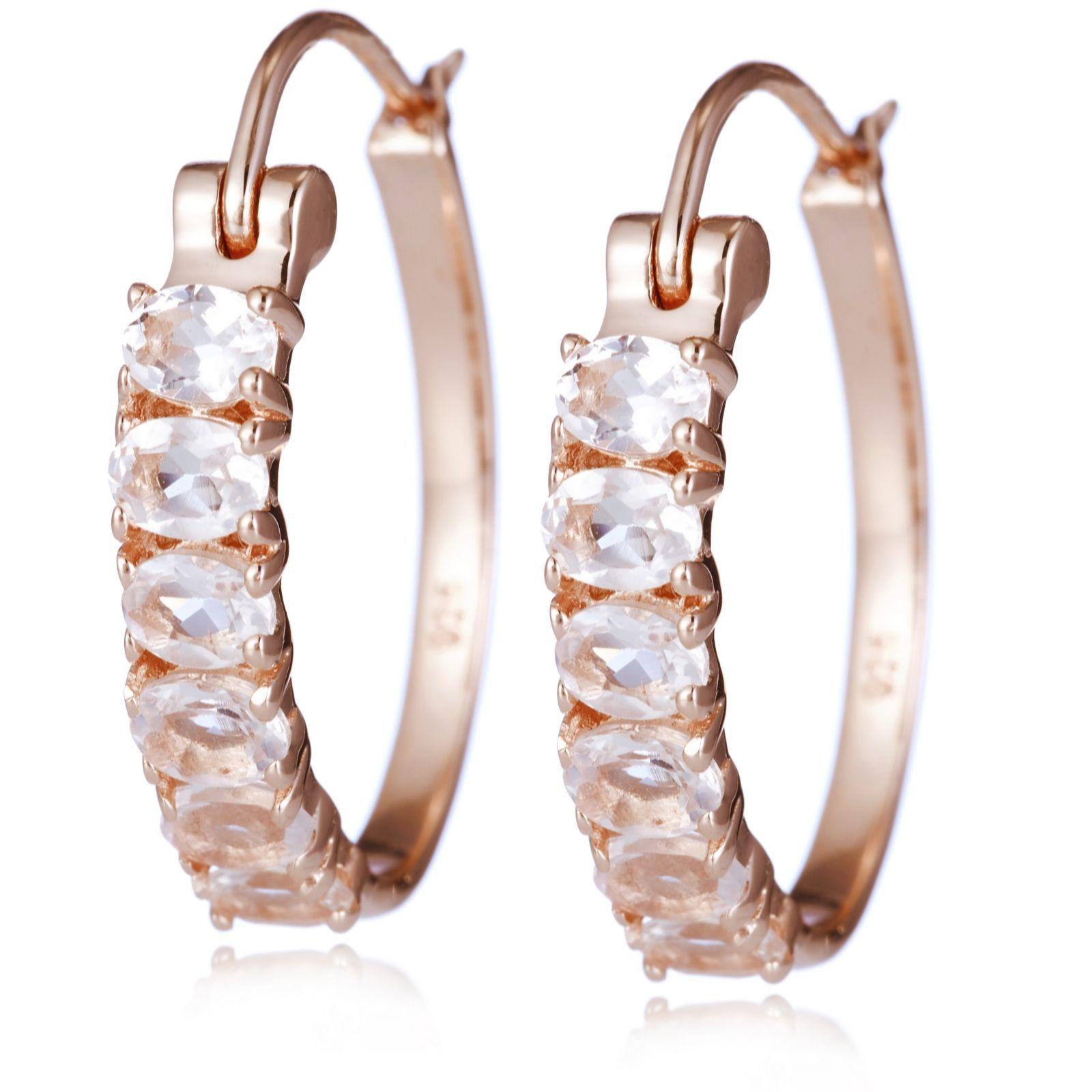 Links of London Womens Jewellery Masquerade Rose Gold Vermeil Oval Stud Earrings