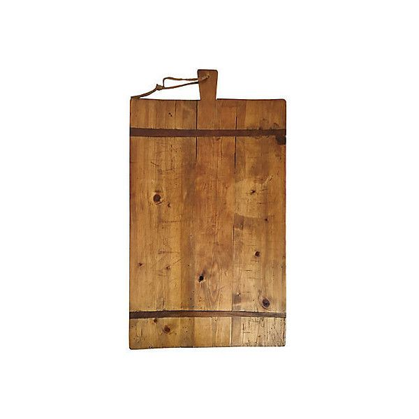Pre-Owned French Pine Wood Cutting/Bread Board (400 CAD) ❤ liked on Polyvore featuring home, kitchen & dining, kitchen gadgets & tools, decorative accessories, handmade cutting boards and french bread board
