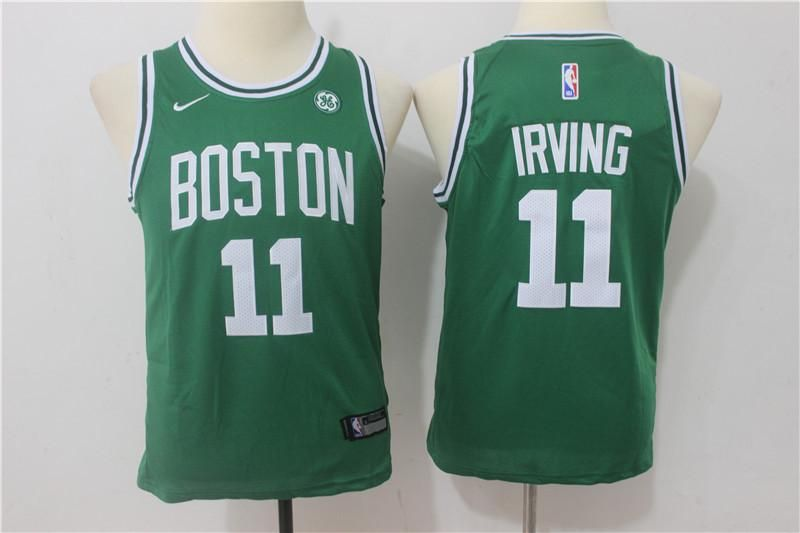 best sneakers a3af2 a65ae Youth kids Celtics #11 Kyrie Irving Basketball stitched ...