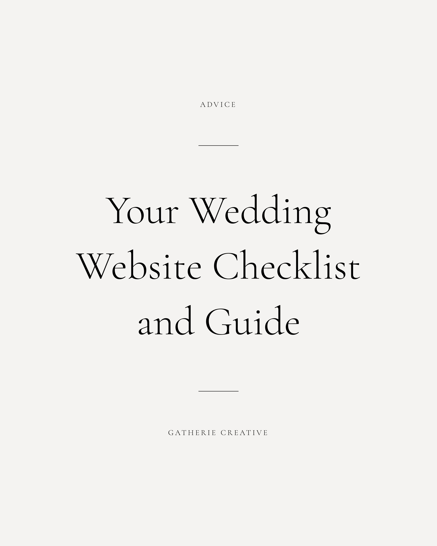 Gatherie Creative — WEDDING WEBSITES Wedding website