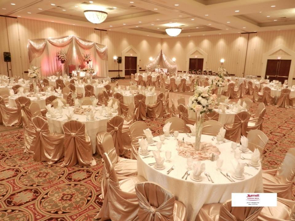 Champagne Wedding Colors Setup At Marriott Phoenix Mesa