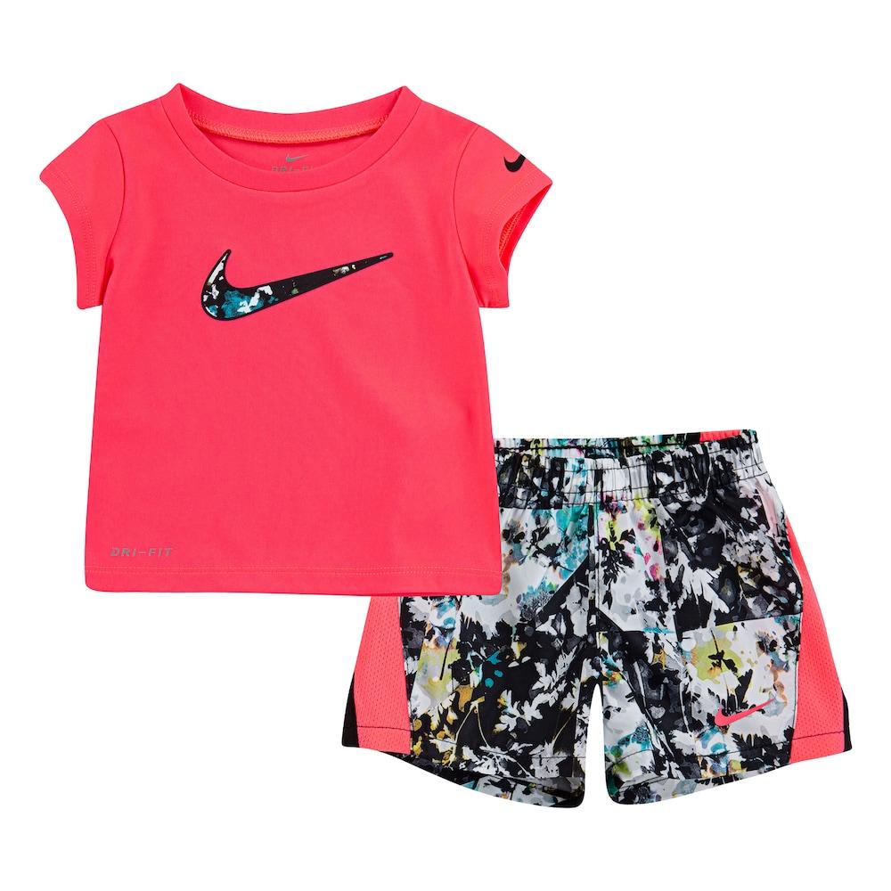 Baby Girl Nike Dri-FIT Logo Graphic Tee