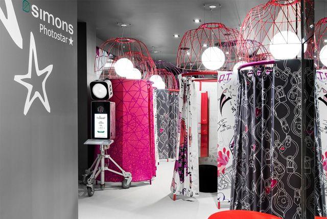 Decoraci n de tiendas y probadores de dise o interiores for Disenos de interiores para boutique