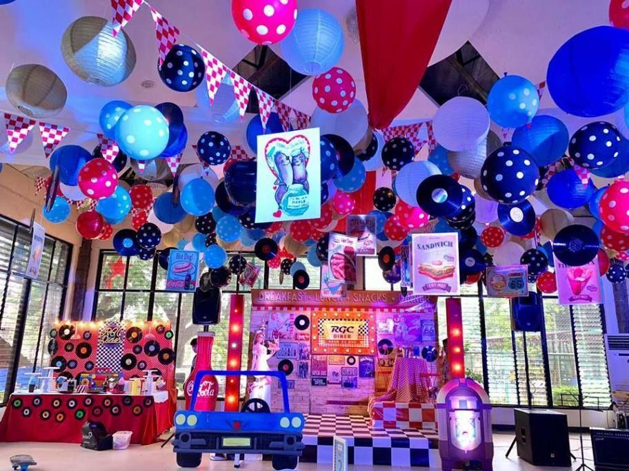Diners Retro Night Party Retro Birthday Parties Unicorn Themed