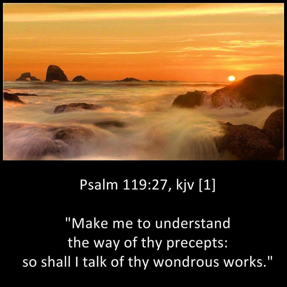 Psalm 119:27 KJV | Kjv, Favorite bible verses, Psalm 119
