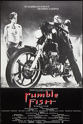 None of the posters for Rumblefish truly do the cinematography justice, but this is the closest.