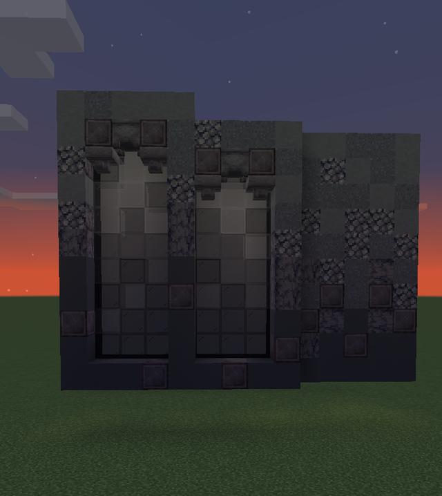 Palette Gothic Dark Using The New Future Blocks For Gradient By U Glassbomb Minecraft Blueprints Minecraft Construction Minecraft Decorations