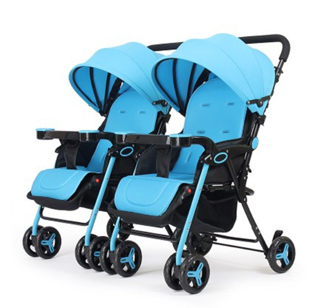 &Baby Stroller Baby Stroller Double Seater Seat Back And
