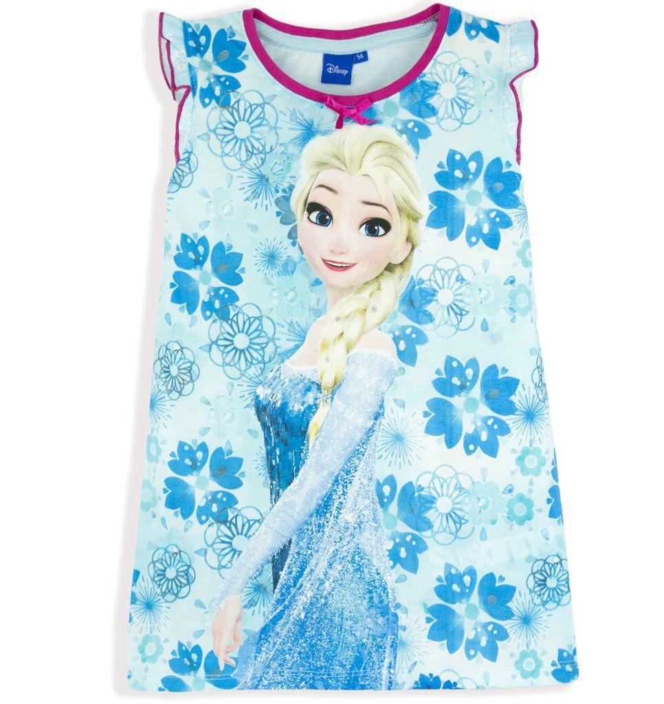 Disney Princess Frozen Girls Short Sleeve Pyjamas Pajamas Set Pjs Nighty 2-8 Yrs