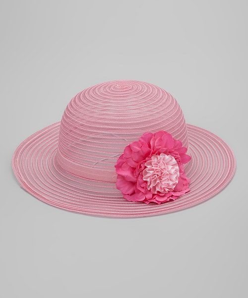 Look at this Pink Flower Mesh Hat on #zulily today!