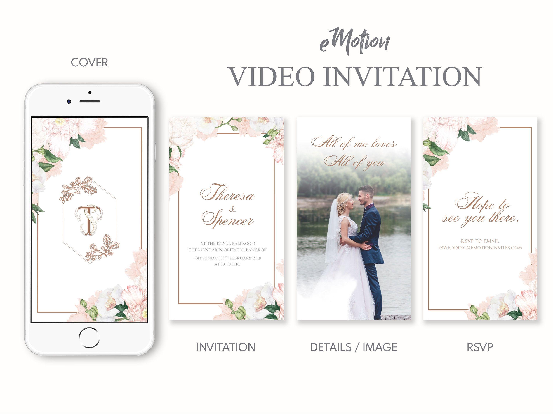 Video Wedding Invitation Wedding Invitation Video Wedding Etsy In 2020 Wedding Invitation Video Luxury Invitation Invitations