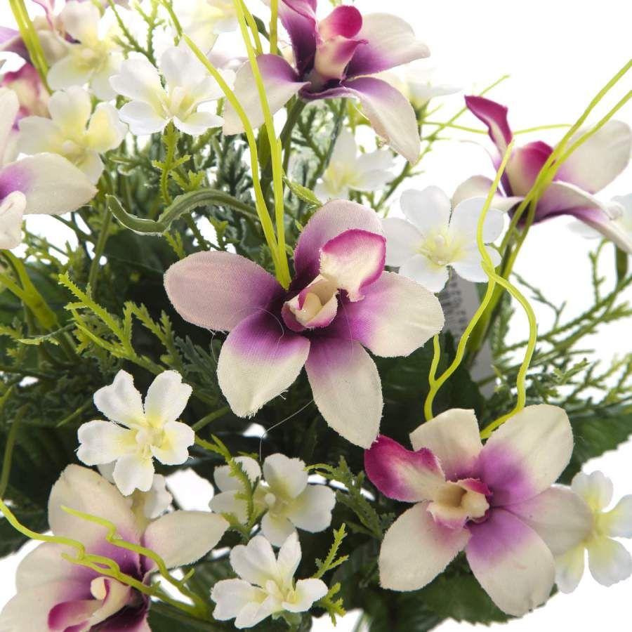 Ramo flores artificiales orqu deas dendrobium malva for Orquideas artificiales