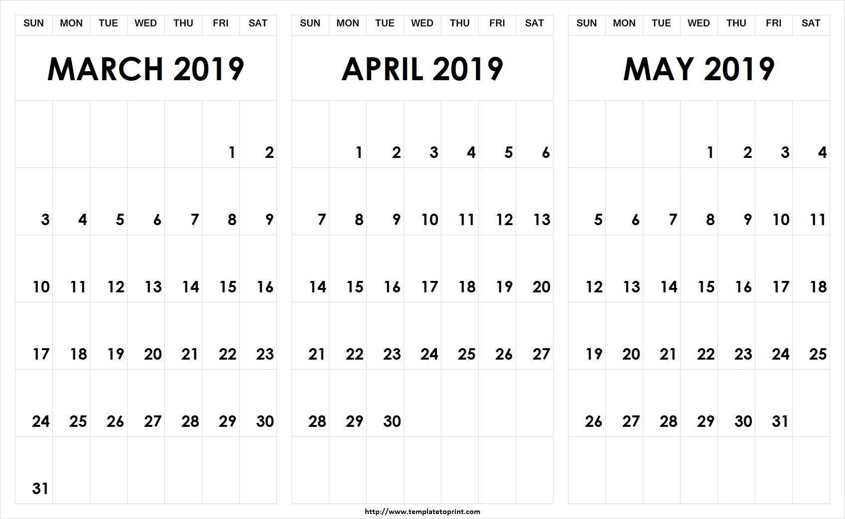 graphic about Printable March Calendar Pdf titled March April Might 2019 Calendar PDF #March #April #May perhaps