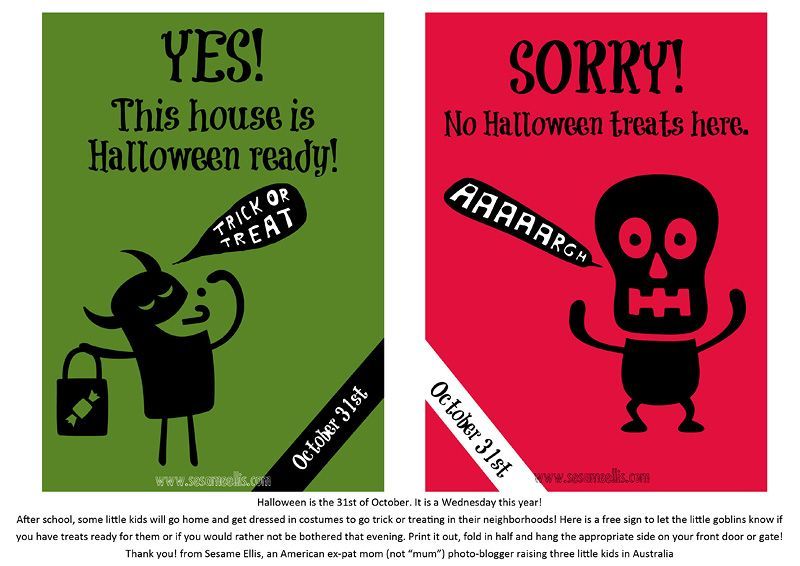 photo about Trick or Treat Signs Printable named Halloween Trick or Take care of doorway indications no cost obtain