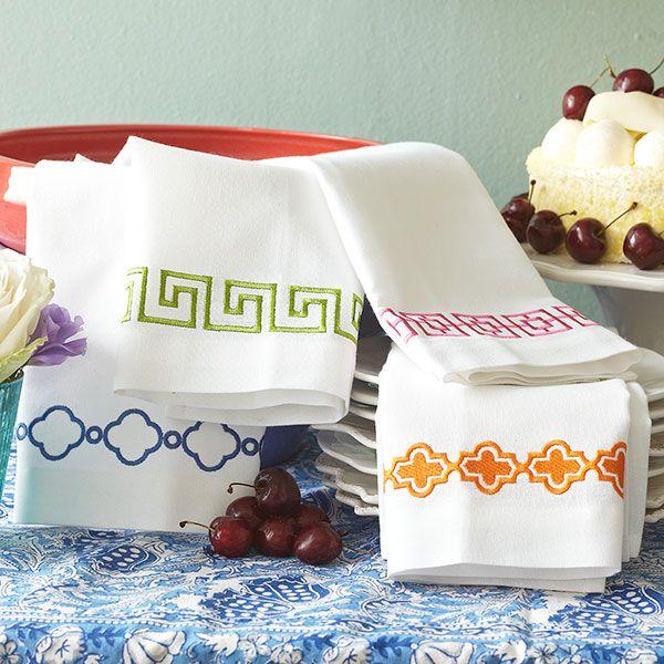 Wisteria - Accessories -   Linens - Crisp Cotton Hand Towels - $29.00