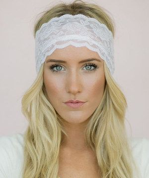 This White Floral Lace Headband - Women by Three Bird Nest is perfect! #zulilyfinds