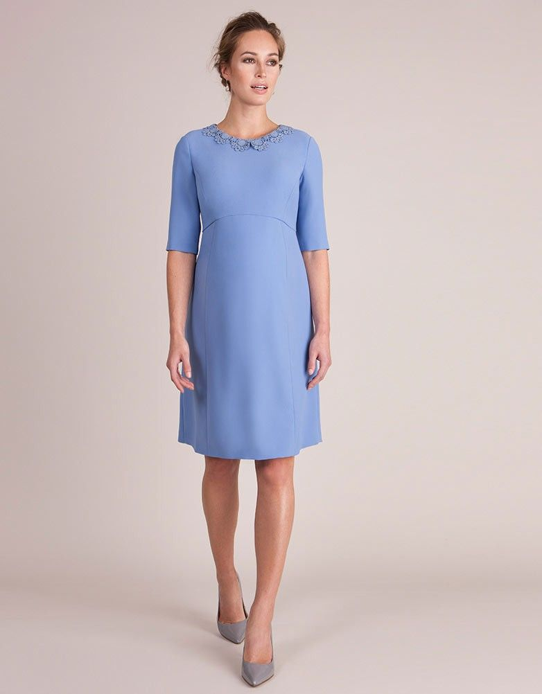 c99703cd35196 Seraphine's Juliet Maternity Dress drapes beautifully, offering a flexible  fit for before, during and
